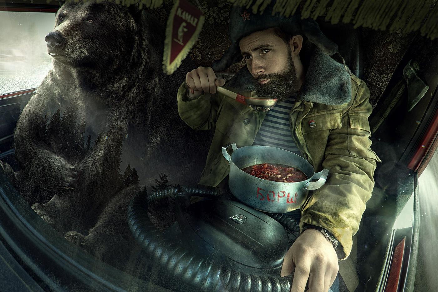 Столица, водка, советский медведь наш!