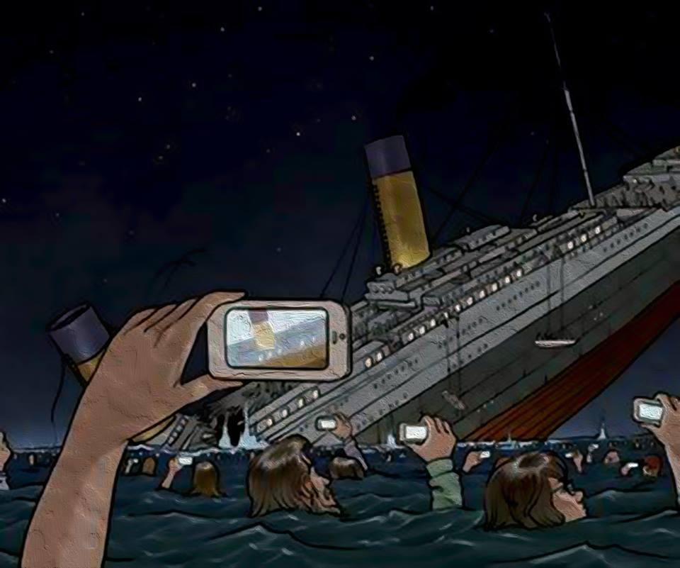 Как бы тонул Титаник сегодня