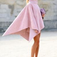 Розовое пончо