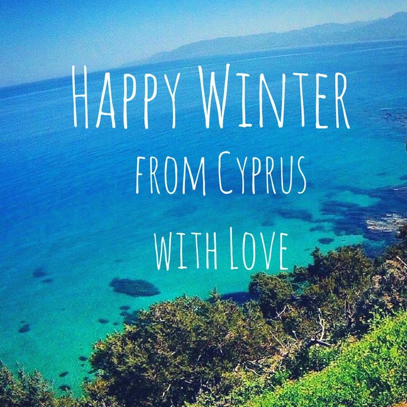 happy winter from cyprus with love