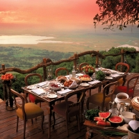 Ланч в отеле в Танзании