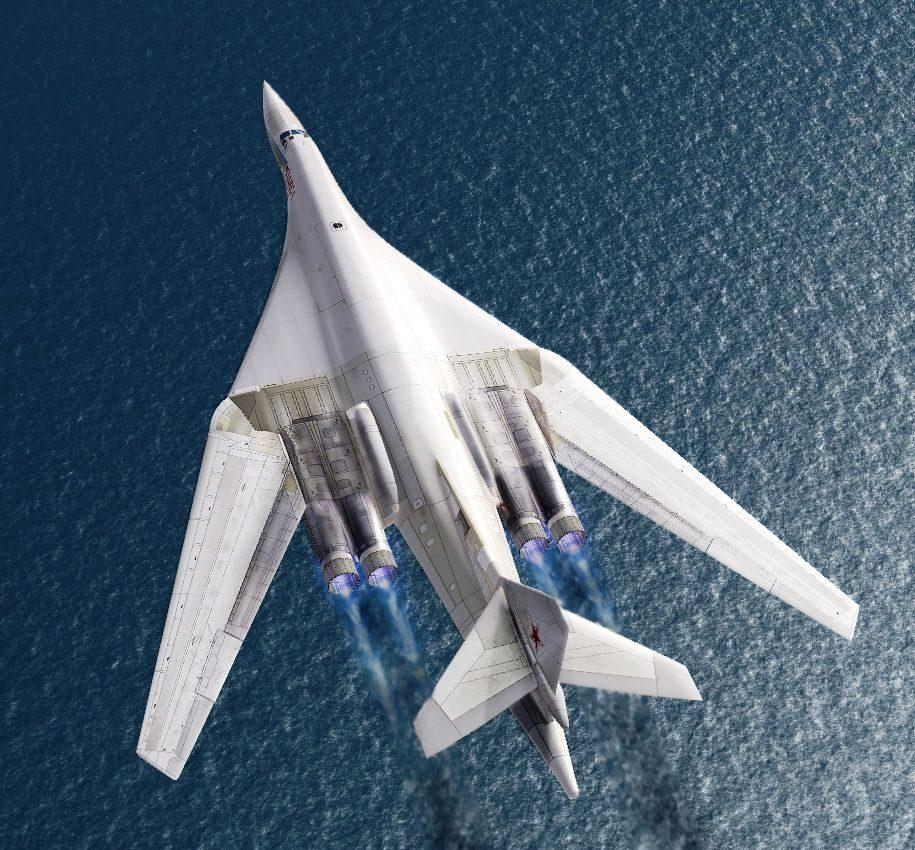 Ту-160 в полёте