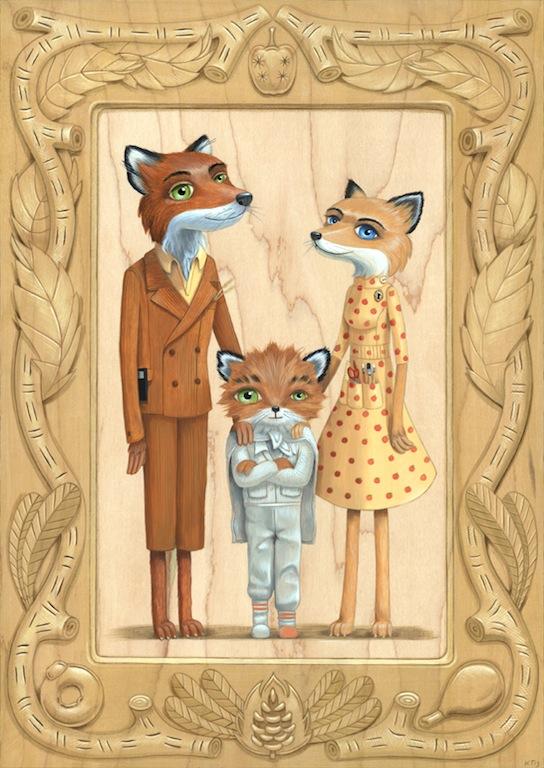 семья фоксиков