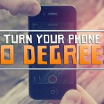 Поверни свой телефон на 90 градусов