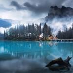 Emerald lake в канадских Скалистых горах