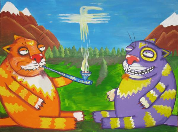 Американские коты-декаденты Фенимор и Купер. Трубка мира