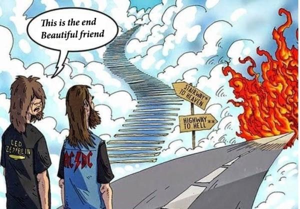 Led Zeppelin— AC/DC— The Doors