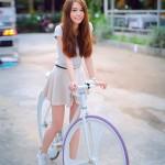 Няшная велосипедисточка