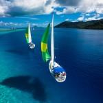 Парусная регата у острова Таити, Французская Полинезия