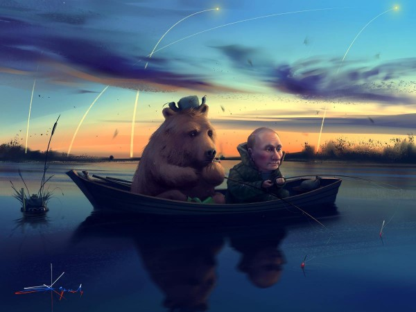 Путин и медвед