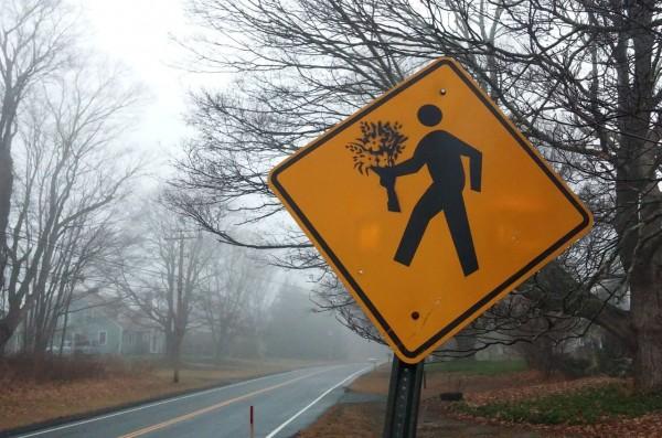 Знак «Осторожно, влюблённые идиоты»