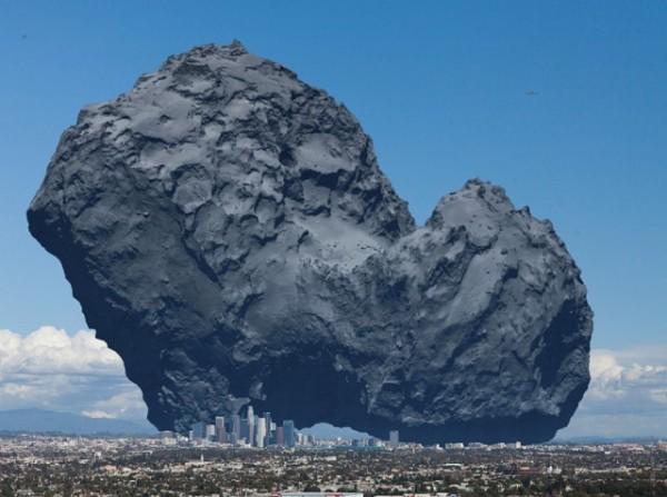 Приземлённая комета для масштаба...